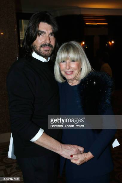 Stylist Stephane Rolland and his mother Genevieve Darmon attend the Stephane Rolland Haute Couture Spring Summer 2018 show as part of Paris Fashion...