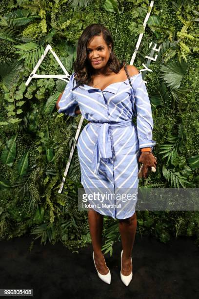 Stylist Tameka Foster attends Ashley North's Launch of 'AN STYLE' Candles at IceLink Boutique and Rooftop Lounge on July 11 2018 in West Hollywood...