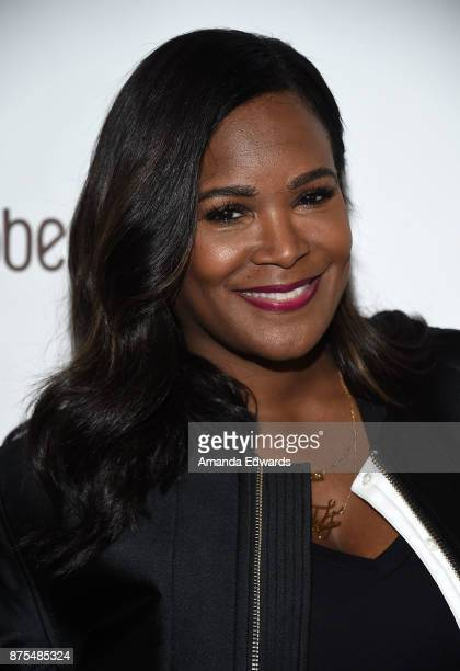 Stylist Tameka Raymond arrives at the Lupus LA 15th Annual Hollywood Bag Ladies Luncheon at The Beverly Hilton Hotel on November 17 2017 in Beverly...