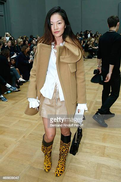 Stylist Tina Leung attends the Chloe show as part of the Paris Fashion Week Womenswear Fall/Winter 2015/2016 on March 8 2015 in Paris France