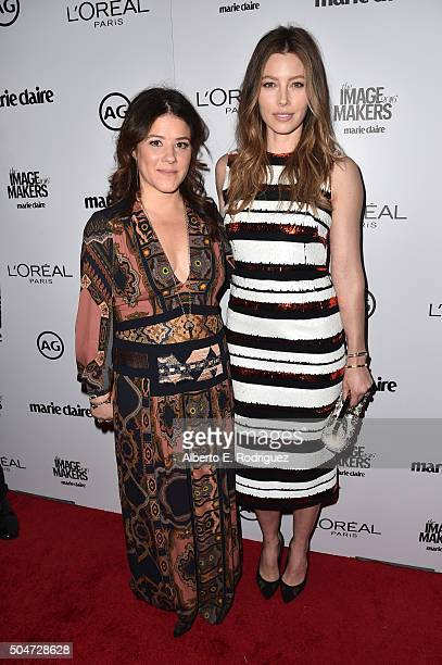 Stylist Tracey Cunningham and actress Jessica Biel attend the inaugural Image Maker Awards hosted by Marie Claire at Chateau Marmont on January 12...
