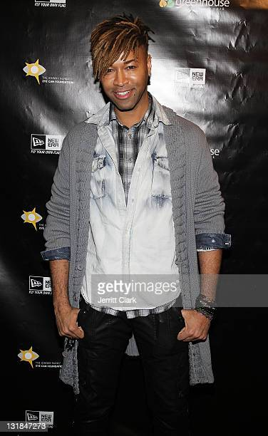 Stylist Ty Hunter attends Johnny Nunez New Era Cap Launch at New Era Flagship Store on December 1 2010 in New York City