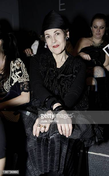 Stylist Tziporah Salamon the Pop Luxe Fall 2012 fashion show during MercedesBenz Fashion Week at the The Studio at Lincoln Center on February 10 2012...