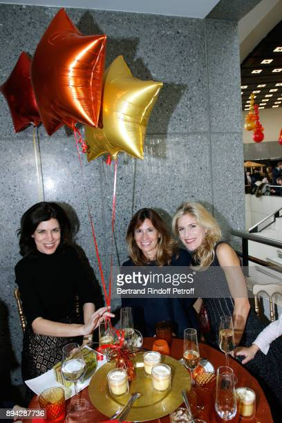 Stylist Vanessa Seward with Members of the 'Reve d'enfants' committee Julie Vuillieme and Caroline von KrockowLahame attend the 32th 'Reve d'Enfants'...