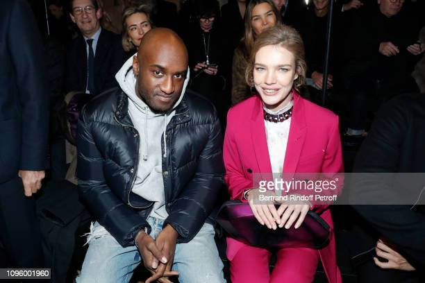Stylist Virgil Abloh and Natalia Vodianova attend the Berluti Menswear Fall/Winter 20192020 show as part of Paris Fashion Week on January 18 2019 in...