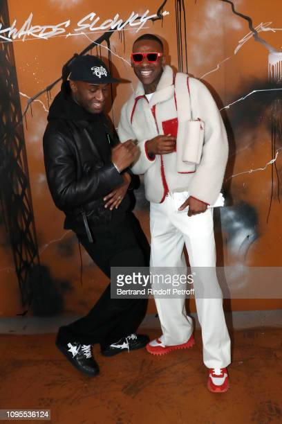 Stylist Virgil Abloh and rapper Skepta pose after the Louis Vuitton Menswear Fall/Winter 20192020 show as part of Paris Fashion Week on January 17...