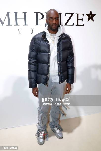 Stylist Virgil Abloh attends the LVMH Prize 2019 Edition at Louis Vuitton Avenue Montaigne Store on March 01 2019 in Paris France