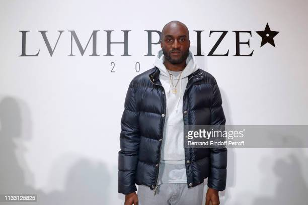 36863c48fb8c Stylist Virgil Abloh attends the LVMH Prize 2019 Edition at Louis Vuitton  Avenue Montaigne Store on