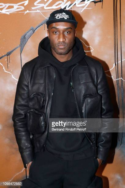 Stylist Virgil Abloh poses after the Louis Vuitton Menswear Fall/Winter 2019-2020 show as part of Paris Fashion Week on January 17, 2019 in Paris,...