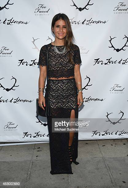 Stylist Whitney Olschwanger attends For Love and Lemons annual SKIVVIES party cohosted by Too Faced and performance by The Shoe at The Carondelet...