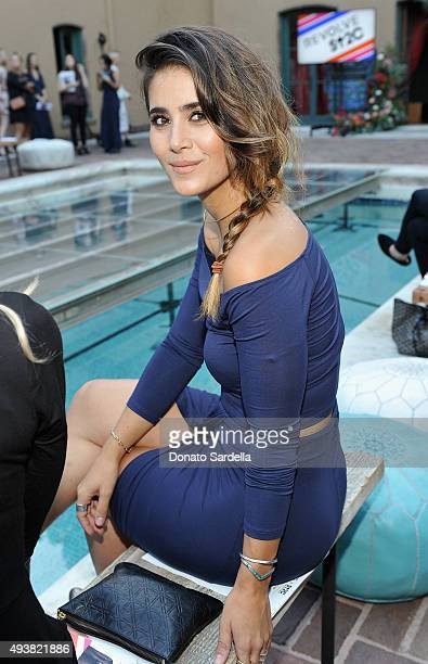 Stylist Whitney Olschwanger attends the REVOLVE fashion show benefiting Stand Up To Cancer on October 22 2015 in Los Angeles California