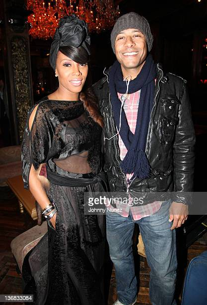 Stylist/Designer June Ambrose and Marc Chamblin attend The Griffin on January 11 2012 in New York City