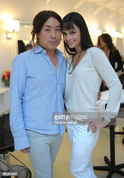 Stylist/Owner Byron Williams and Actress Jordana Brewster attend The Byron Tracey Lounge held at Byron Tracey Salon on May 29 2009 in Beverly Hills...