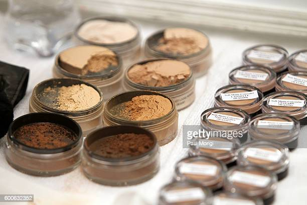 A stylist's makeup backstage during the Noon By Noor fashion show during New York Fashion Week The Shows September 2016 at The Gallery Skylight at...