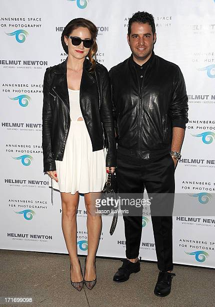 Stylists Mariel Haenn and Rob Zangardi attend the opening of 'Helmut Newton White Women Sleepless Nights Big Nudes' at Annenberg Space For...