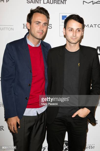 Stylists of Courreges Arnaud Vaillant and Sebastien Meyer attend the 'ANDAM 2017' Prizewinner cocktail at Ministere de la Culture on June 30 2017 in...
