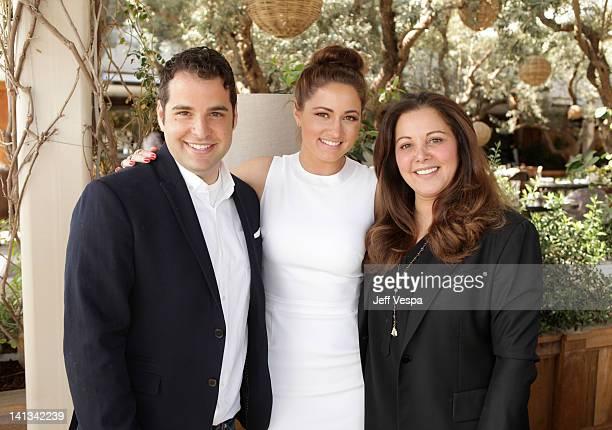 Stylists Rob Zangardi Mariel Haenn and Deborah Waknin attend the The Hollywood Reporter Jimmy Choo Inaugural 25 Most Powerful Stylists Luncheon at...