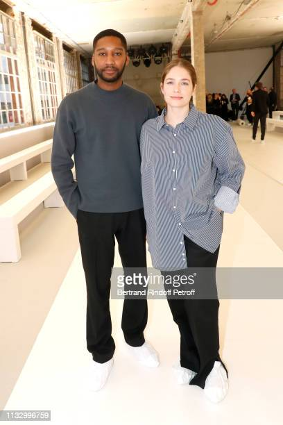 Stylists Rushemy Botter and Lisi Herrebrugh pose prior the Nina Ricci show as part of the Paris Fashion Week Womenswear Fall/Winter 2019/2020 on...