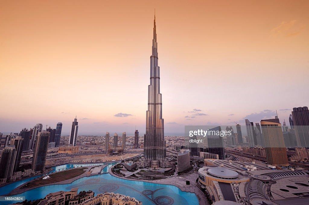 Hermoso Vista aérea de la ciudad de Dubai : Foto de stock