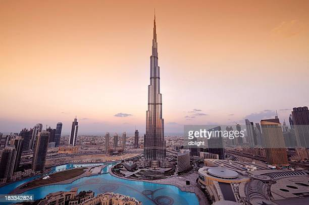 Stylized aerial view of Dubai City