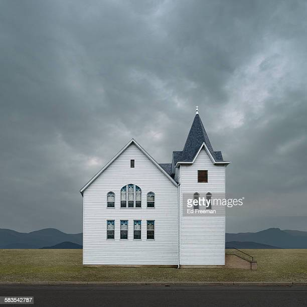 Stylized Picture of Rural Church