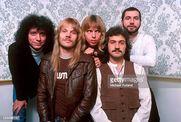 Styx group portrait New York LR John Panazzo James Young Tommy Shaw Dennis De Young Chuck Panazzo