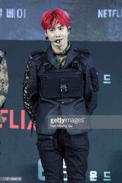 Su ho aka Suho of boy band EXO performs on stage during the world premiere of '6 Underground' at Dongdaemun Design Plaza on December 02 2019 in Seoul...