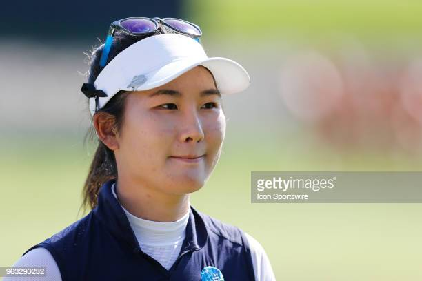 Su Oh of Australia is seen on the 18th green after putting out during the final round of the LPGA Volvik Championship on May 27 2018 at Travis Pointe...