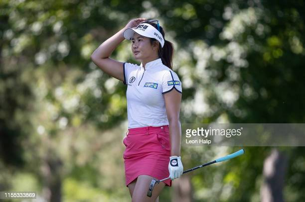 Su Oh of Australia walks to the 5th green during the second round of the Marathon Classic presented by Dana at the Highland Meadows Golf Club on July...