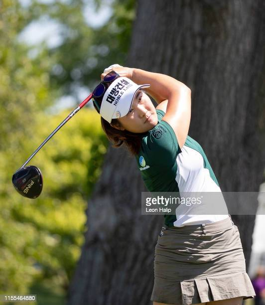 Su Oh of Melbourne, Australia hits her tee shot on the 11th hole during the third round of the Marathon Classic presented by Dana at the Highland...