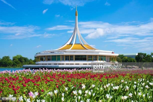 suan luang rama 9 park in bangkok - hindu god stock photos and pictures