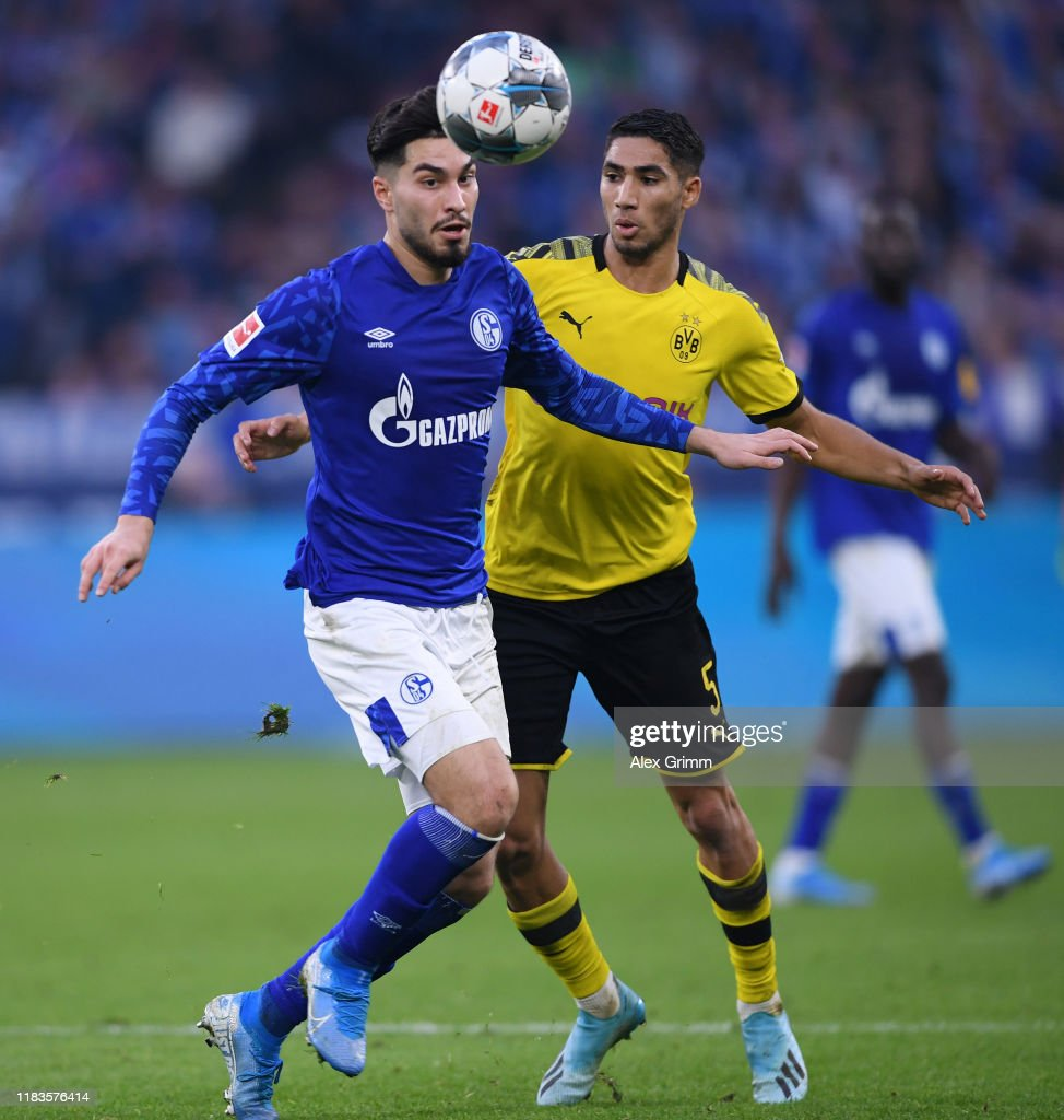Suat Serdar Of Fc Schalke Shoots Is Challenged By Achraf Hakimi Of News Photo Getty Images