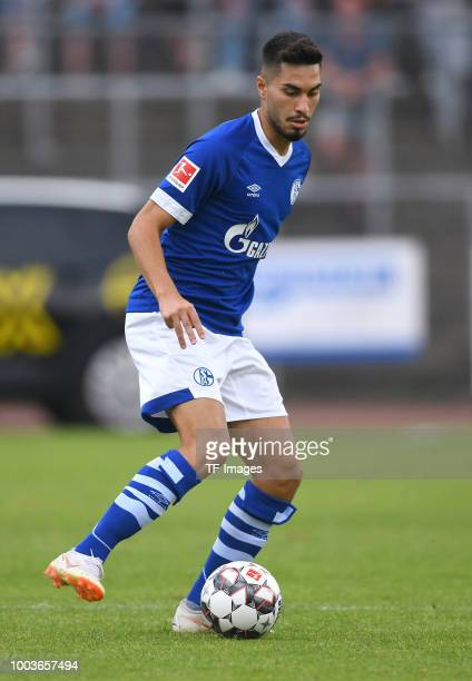 Suat Serdar of Schalke controls the ball during the Friendly match between Schwarz Weiss Essen and FC Schalke 04 on July 21 2018 in Essen Germany