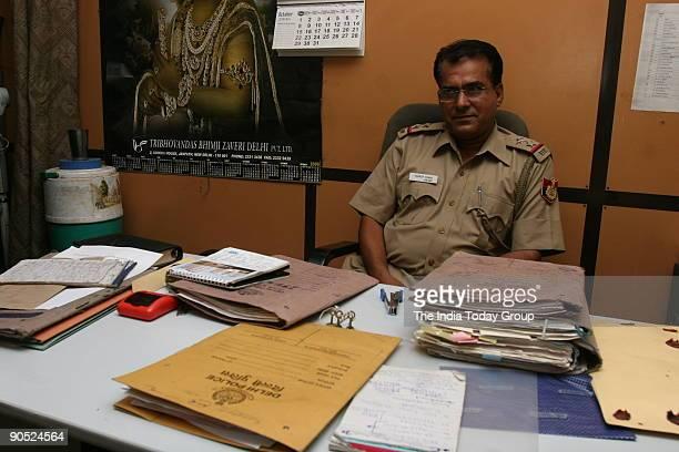 Sub Inspector Sandeep Kumar at Connaught Place Police Station New Delhi India