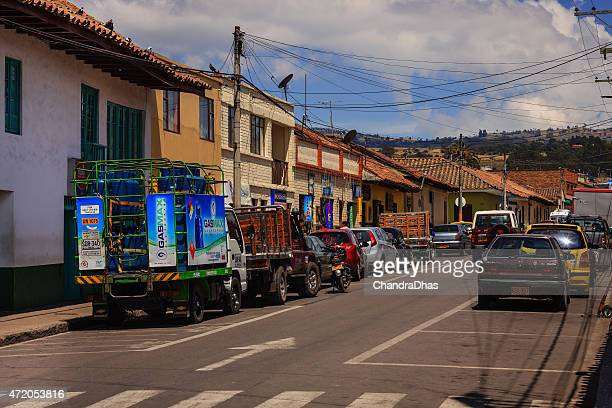 Subachoque, Colombia - morning on a main street