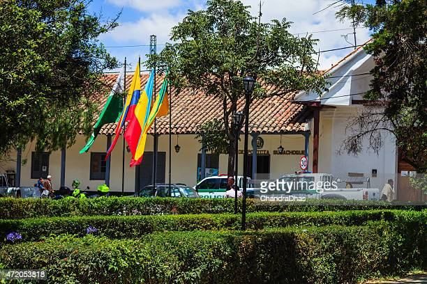 Subachoque, Colombia: Police Station; Spanish colonial architecture