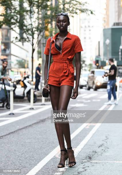 Subah Koj attends the casting for the 2018 Victoria's Secret Show in Midtown on September 4, 2018 in New York City.