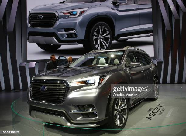 Subaru Ascent is displayed at the New York International Auto Show in New York City United States on April 13 2017