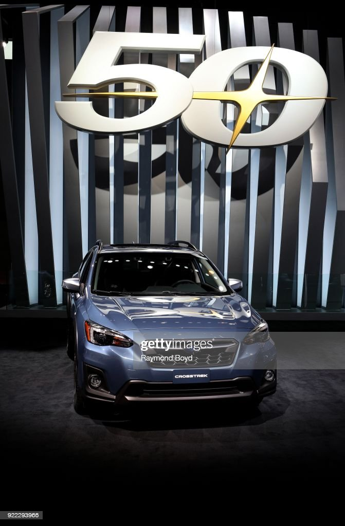 Subaru Crosstrek is on display at the 110th Annual Chicago Auto Show at McCormick Place in Chicago, Illinois on February 9, 2018.