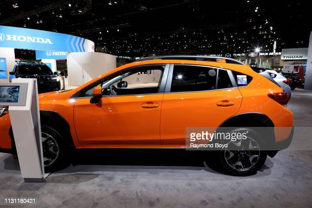 Subaru Crosstrek is on display at the 111th Annual Chicago Auto Show at McCormick Place in Chicago, Illinois on February 8, 2019.