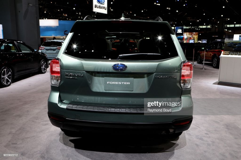 Subaru Forester is on display at the 110th Annual Chicago Auto Show at McCormick Place in Chicago, Illinois on February 9, 2018.