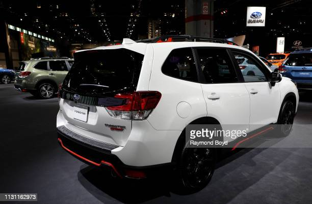 Subaru Forester is on display at the 111th Annual Chicago Auto Show at McCormick Place in Chicago, Illinois on February 8, 2019.