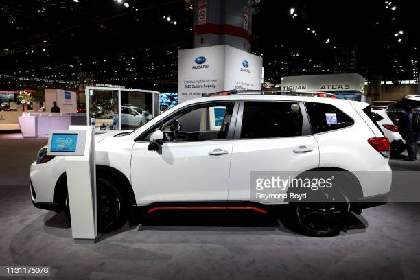 Subaru Forester is on display at the 111th Annual Chicago Auto Show at McCormick Place in Chicago Illinois on February 8 2019