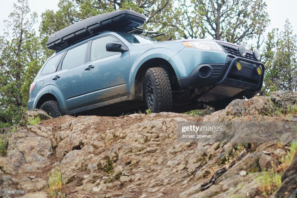 Subaru Forester Offroad In Central Oregon High Res Stock Photo Getty Images