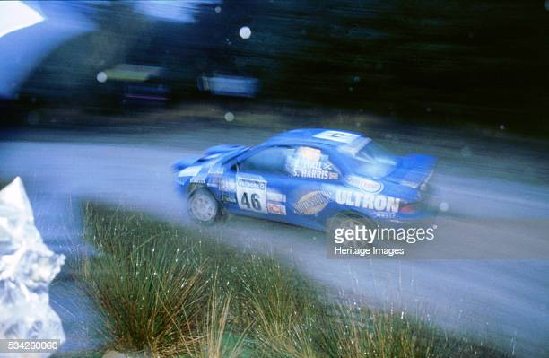Subaru Impreza at speed1998 Network Q rally 2000