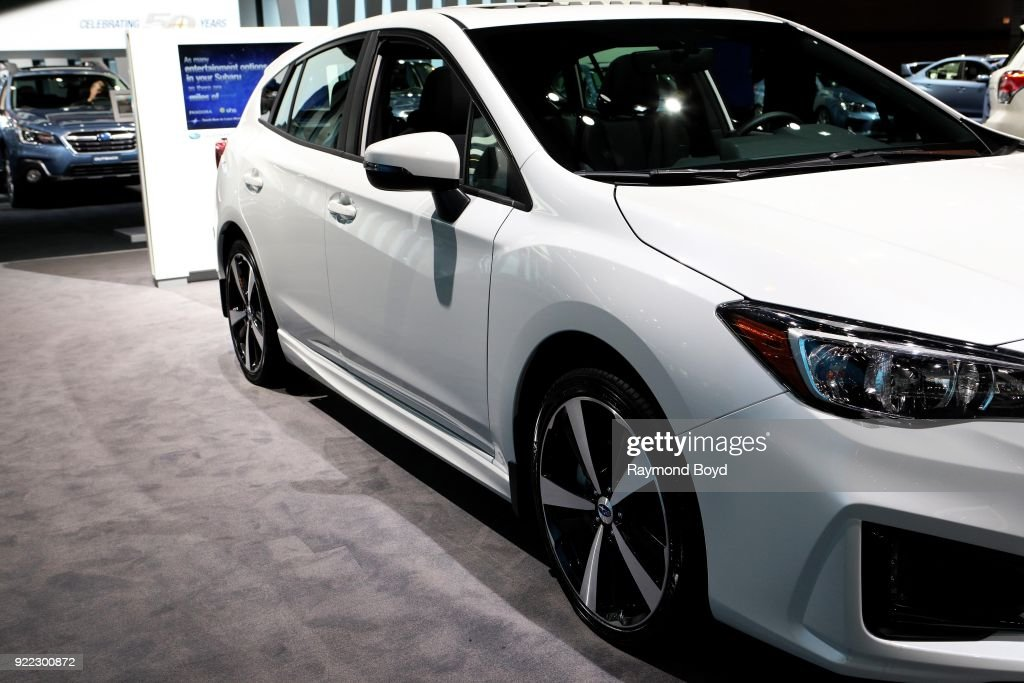 Subaru Impreza is on display at the 110th Annual Chicago Auto Show at McCormick Place in Chicago, Illinois on February 9, 2018.