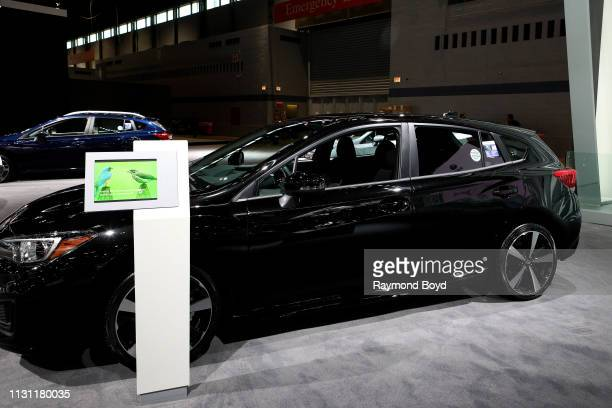 Subaru Impreza is on display at the 111th Annual Chicago Auto Show at McCormick Place in Chicago Illinois on February 8 2019