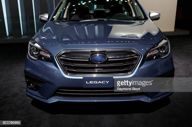 Subaru Legacy is on display at the 110th Annual Chicago Auto Show at McCormick Place in Chicago Illinois on February 9 2018