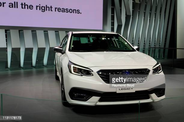 Subaru Legacy is on display at the 111th Annual Chicago Auto Show at McCormick Place in Chicago Illinois on February 8 2019