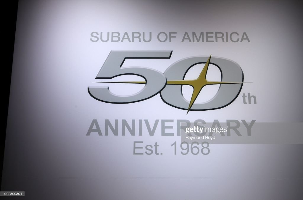 Subaru signage is on display at the 110th Annual Chicago Auto Show at McCormick Place in Chicago, Illinois on February 9, 2018.